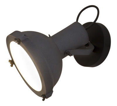 Illuminazione - Lampade da parete - Applique Projecteur 165 - by Le Corbusier / Plafoniera - Riedizione 1954 di Nemo - Antracite-blu scuro - alluminio verniciato, Vetro opalino
