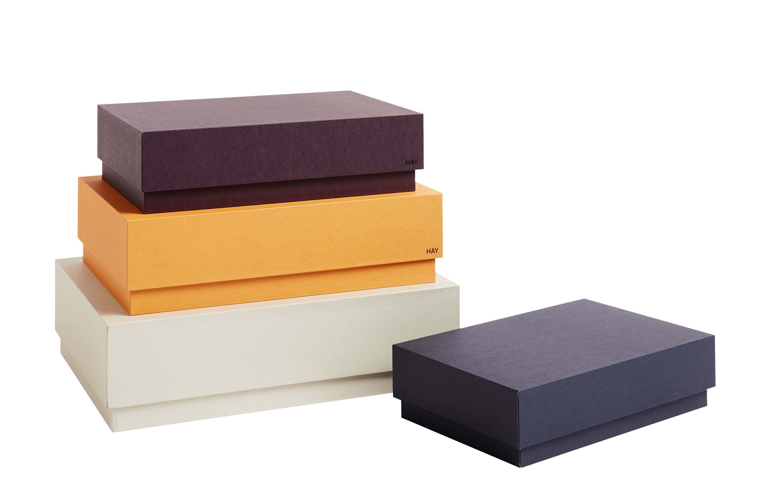 Déco - Boîtes déco - Boîte Desktop / Set de 4 - L 32 cm - Hay - Multicolore - Carton
