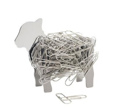 Accessoires - Accessoires für das Büro - Mey Büroklammermagnet / Schaf - magnetisch - Stahl - Pa Design - Chrom-glänzend - Aimant, Edelstahl, Silikon