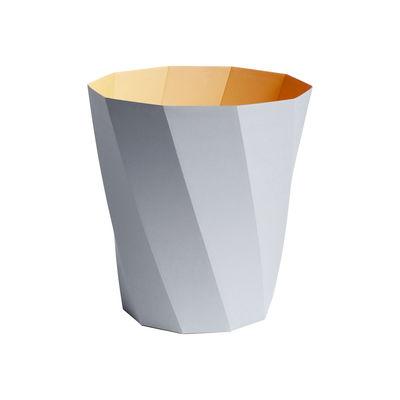 Interni - Cestini - Cestino per la carta Paper Paper - / 100% carta riciclata - Ø 28 x H 30,5 cm di Hay - Grigio chiaro / Giallo - Papier recyclé FSC