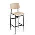 Chaise de bar Loft / H 75 cm - Bois & métal - Muuto