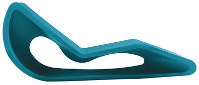 Outdoor - Chaises longues et hamacs - Chaise longue Organic - Qui est Paul ? - Turquoise - Polyéthylène