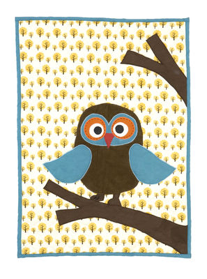 Decoration - Children's Home Accessories - Owl Children blanket by Ferm Living - Multicoloured - Cotton