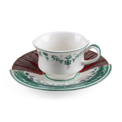 Tableware - Coffee Mugs & Tea Cups - Hybrid Chucuito Coffee cup - / Coffee cup + saucer set by Seletti - Chucuito - China