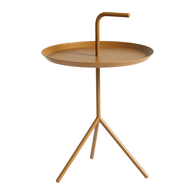 Furniture - Coffee Tables - Don't leave Me Coffee table - / Ø 38 x H 58 cm by Hay - Caramel - Lacquered steel