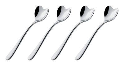 Tableware - Cutlery - Mirri Coffee, tea spoon - Set of 4 by Alessi - Steel - Stainless steel