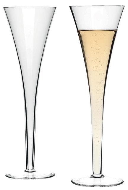 Tavola - Bicchieri  - Coppa di champagne Nizza / Set da 2 - Leonardo - Trasparente - Vetro