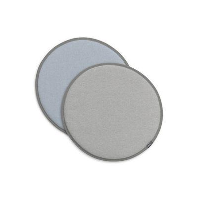 Image of Cuscino per seduta Seat Dots - / Ø 38 cm - Reversibile di Vitra - Blu/Grigio - Tessuto