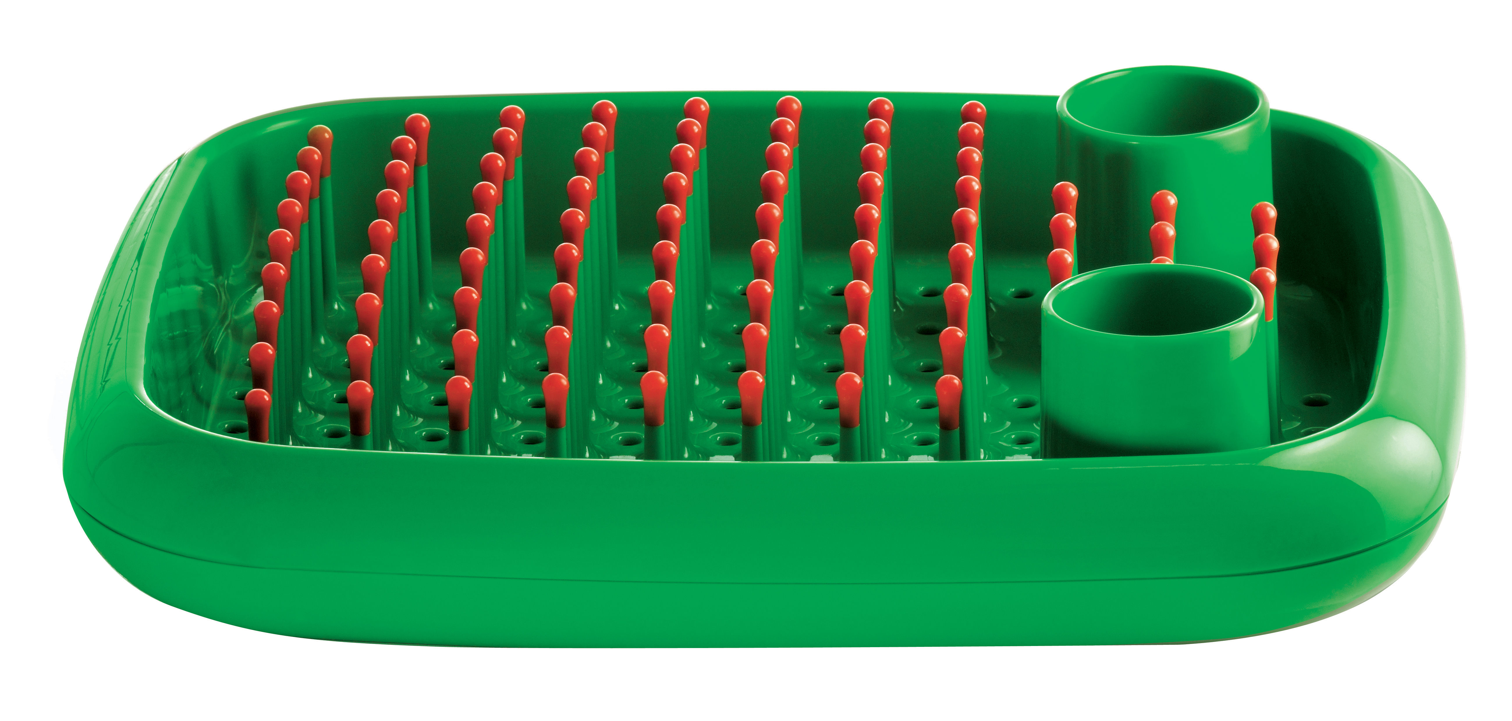 Kitchenware - Fun in the kitchen - Dish doctor Draining rack by Magis - Green - orange - Polypropylene