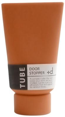 Image of Fermaporta - Tubetto di vernice di Pa Design - Arancione - Materiale plastico