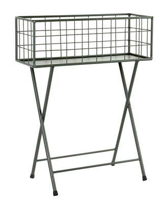 Furniture - Shelves & Storage Furniture - Grid Flowerpot - / L 60 x H 78 cm - Metal by Serax - Khaki green - Lacquered metal