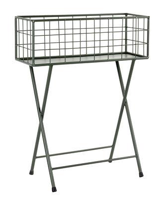 Mobilier - Meubles de rangement - Jardinière Grid / L 60 x H 78 cm - Métal - Serax - Vert kaki - Métal laqué