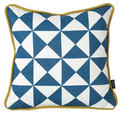 Dekoration - Kissen - Little geometry Kissen Baumwolle - 30 x 30 cm - Ferm Living - Blau und weiß - Baumwolle