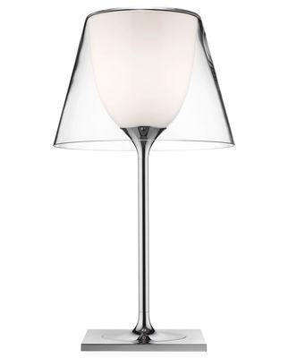 Lampe de table K tribe T1 Glass H 56 cm - Version verre - Flos transparent en métal/verre