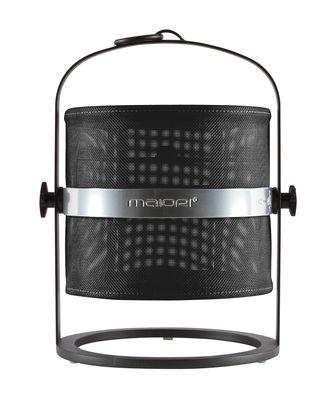 Luminaire - Lampes de table - Lampe solaire La Lampe Petite LED / Sans fil - Dock USB - Structure noire - Maiori - Noir / Structure noire - Aluminium, Tissu technique