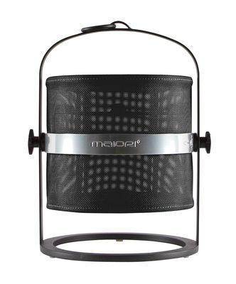 Lampe solaire La Lampe Petite LED / Hybride & connectée - Structure charbon - Maiori charbon en métal
