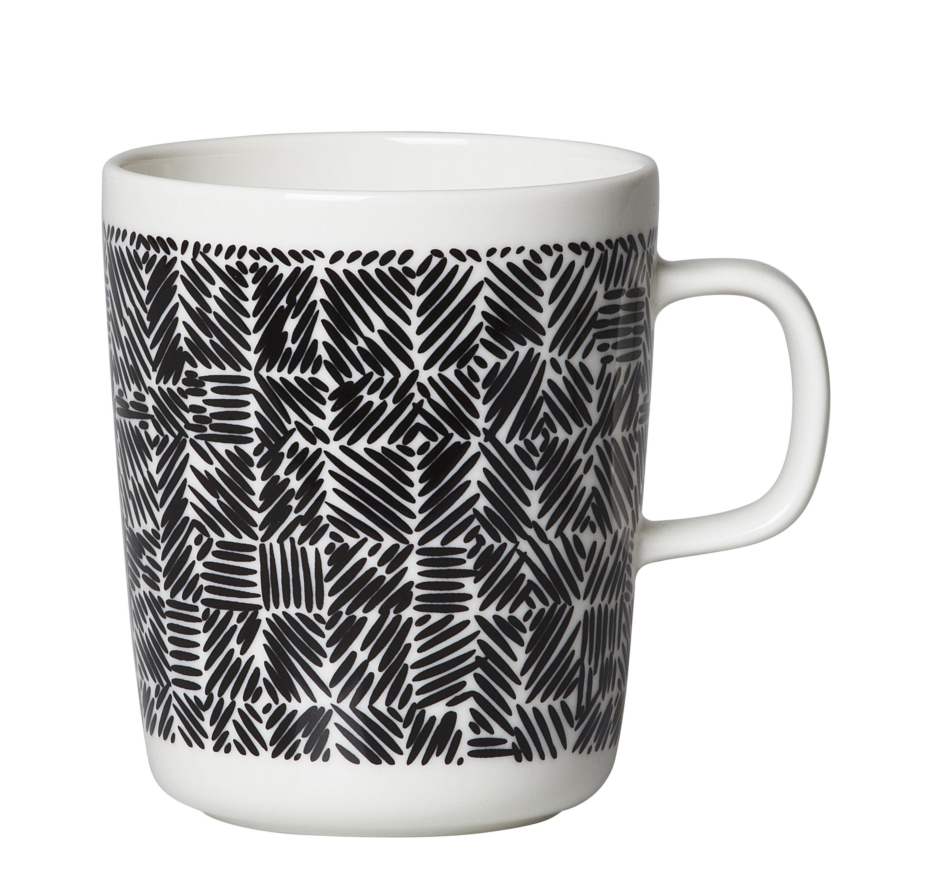 Tableware - Coffee Mugs & Tea Cups - Juustomuotti Mug - / 25 cl by Marimekko - Juustomuotti / Black & white - Sandstone