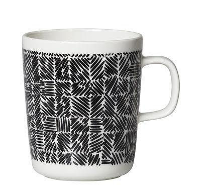 Arts de la table - Tasses et mugs - Mug Juustomuotti / 25 cl - Marimekko - Juustomuotti / Noir & blanc - Grès