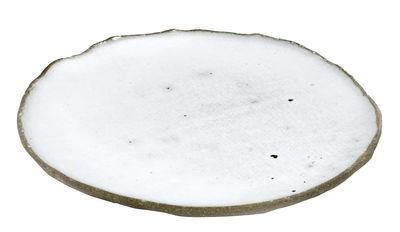 Tavola - Piatti  - Piatto da dessert FCK - / Ø 14 cm - Cemento smaltato di Serax - Bianco / Cemento grezzo - Calcestruzzo spatolato