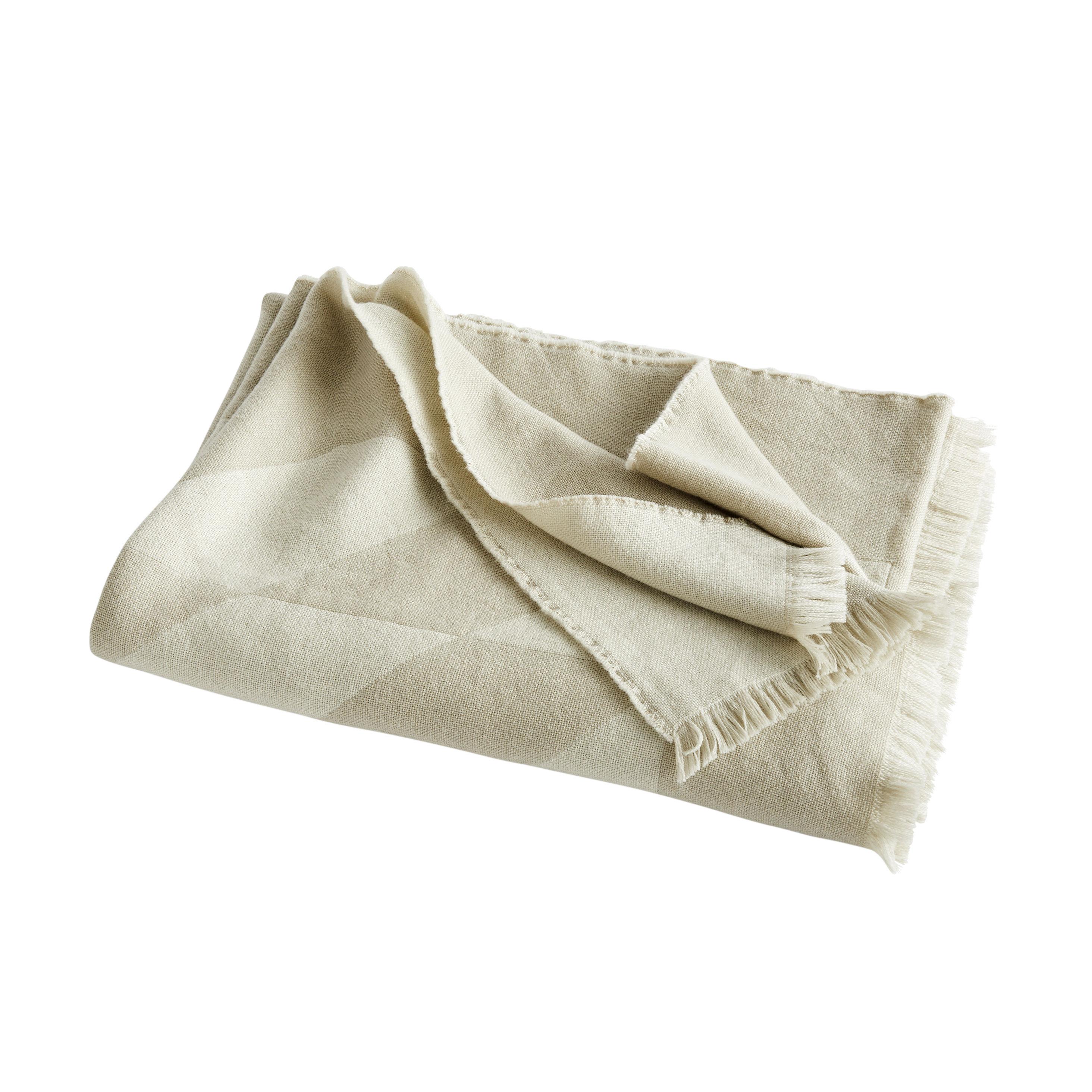 Decoration - Bedding & Bath Towels - Star Plaid - / 180 x 130 cm - Wool by Hay - Grey - Merinos wool