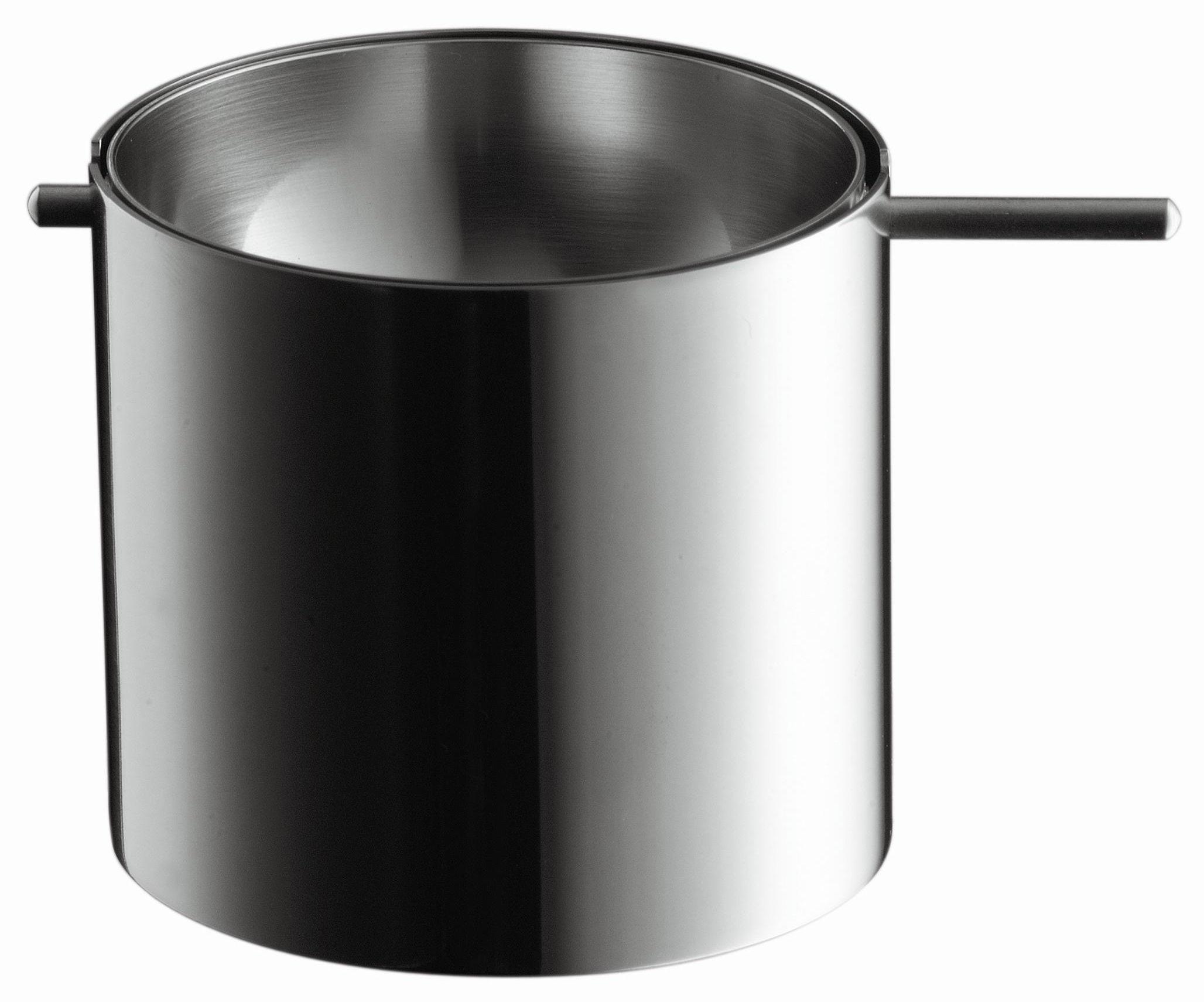 Accessori moda - Posacenere - Portacenere Cylinda-Line - Portacenere basculante di Stelton - Modello piccolo - Acciaio inossidabile