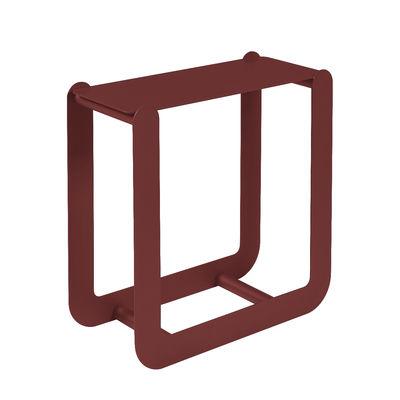Arredamento - Complementi d'arredo - Portalegna Nevado - / Sgabello - L 60 x H 60 cm di Fermob - Peperoncino - Acciaio