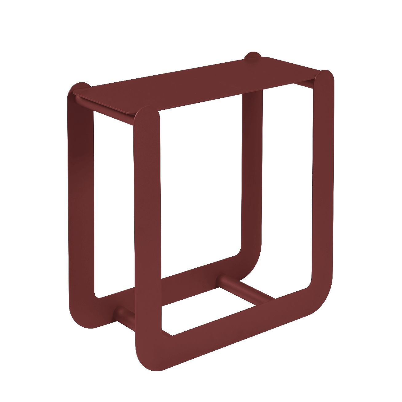 Mobilier - Compléments d'ameublement - Porte-bûches Nevado / Tabouret - L 60 x H 60 cm - Fermob - Piment - Acier