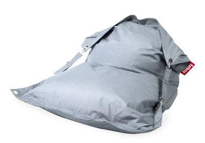 Pouf Buggle-up Outdoor / Avec sangles ajustables - Fatboy L 190 x Larg 140 cm bleu minéral en tissu