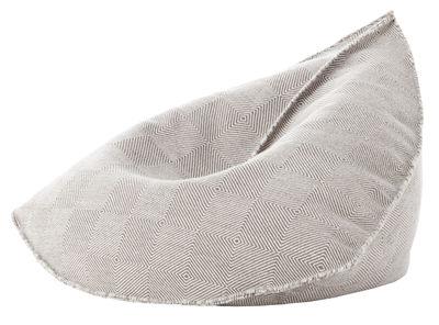 Furniture - Poufs & Floor Cushions - Sail Pouf - / 110 x 100 cm - H 120 cm by Gan - Taupe - Polystyrene balls, Virgin wool