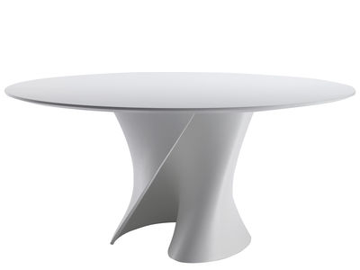 Furniture - Dining Tables - S Round table - Ø 140 cm by MDF Italia - White - Cristalplant