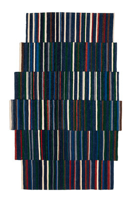 Decoration - Rugs - Lattice 1 Rug - 148 x 240 cm by Nanimarquina - Blue / Multicolored - Afghan wool