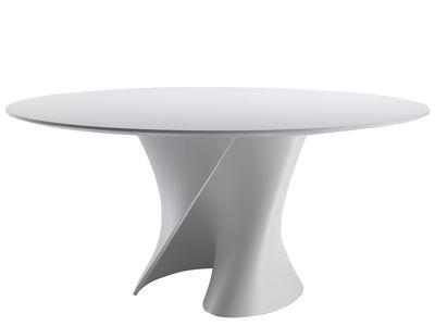 Möbel - Tische - S Runder Tisch Ø 140 cm - MDF Italia - Platte weiß - weiße Basis - Cristalplant