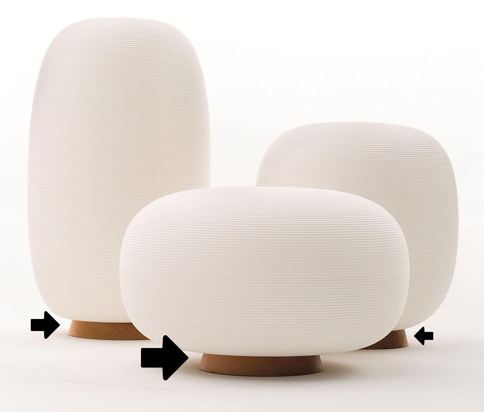 Möbel - Sitzkissen - Sockel aus Holz / für die Sitzgelegenheiten und Lampen aus der Kollektion