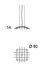 Sospensione Céleste LED - / Ø 80 cm di Dix Heures Dix