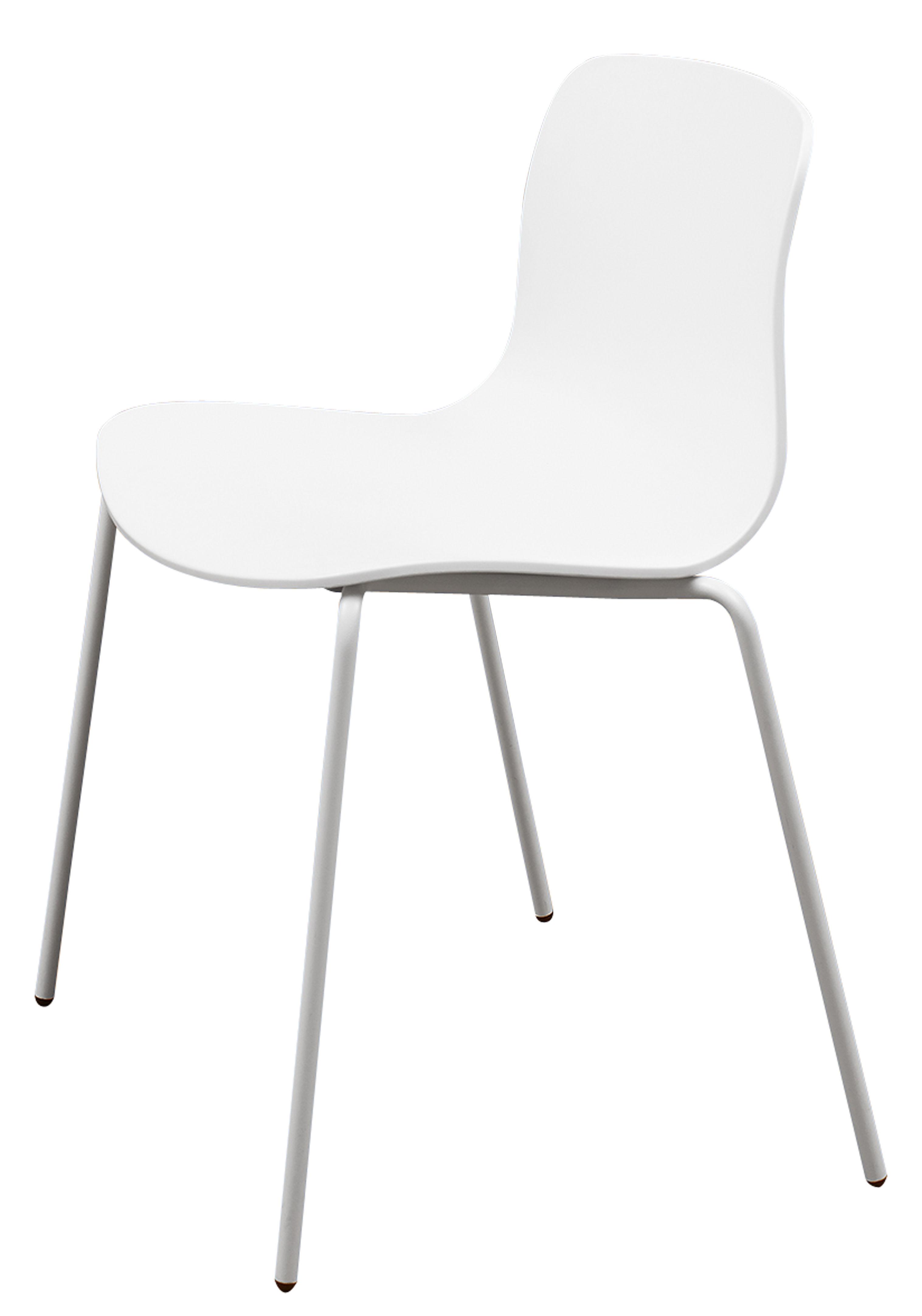 Stapelbarer Stuhl About a chair AAC16 von Hay Weiß