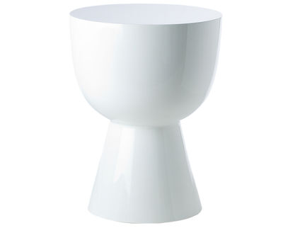Furniture - Stools - Tam tam Stool - Stool/Low table - Exclusivity by Pols Potten - White - Lacquered polyester