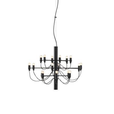 Suspension 2097 / 18 ampoules dépolies INCLUSES - Ø 69 cm - Flos noir en métal