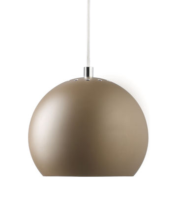 Luminaire - Suspensions - Suspension Ball Small / Ø 18 cm - Réédition 1968 - Frandsen - Marron mat - Métal peint