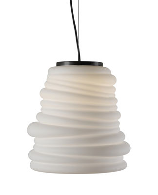 Suspension Bibendum LED / Ø 30 cm - Verre - Karman blanc en verre