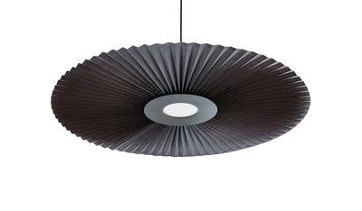 Suspension Carmen / LED - Ø 90 cm - Tissu plissé - Hartô gris ardoise en tissu
