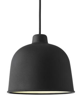 Luminaire - Suspensions - Suspension Grain / Ø 21 cm - Muuto - Noir - Matériau composite