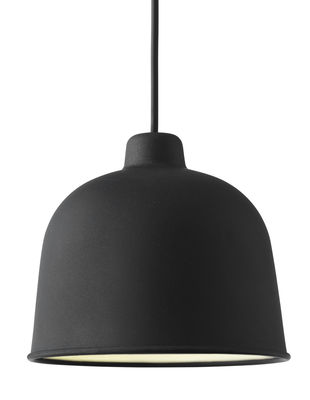 Suspension Grain / Ø 21 cm - Muuto noir en matériau composite