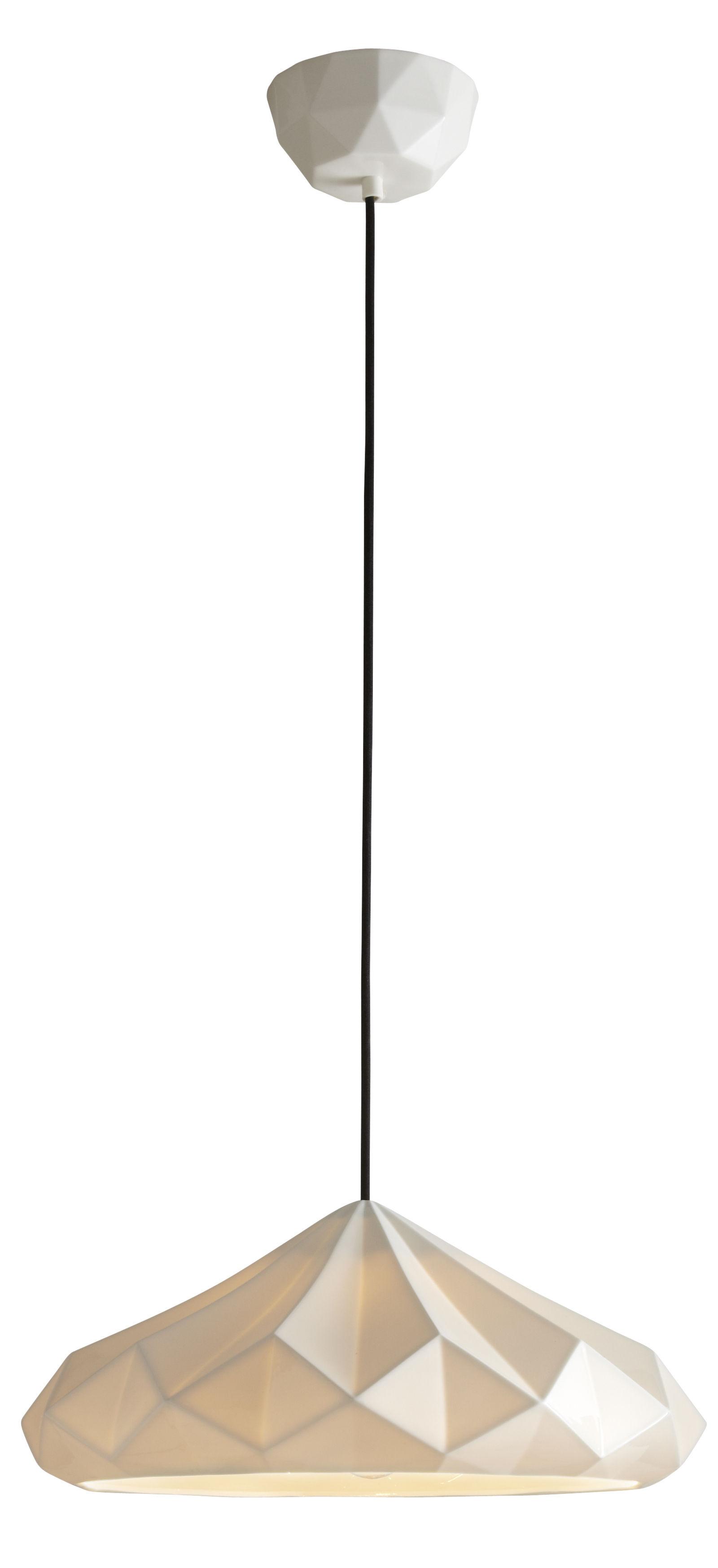 Luminaire - Suspensions - Suspension Hatton 4 / Ø 41,5 x H 18 cm - Porcelaine - Original BTC - Porcelaine blanche - Porcelaine