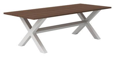 Table Banquété / 240 x 100 cm - Serralunga blanc,bois clair en matière plastique