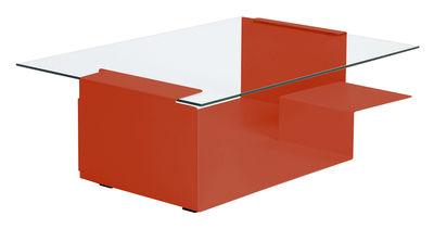 Table basse Diana D - ClassiCon rouge en métal/verre