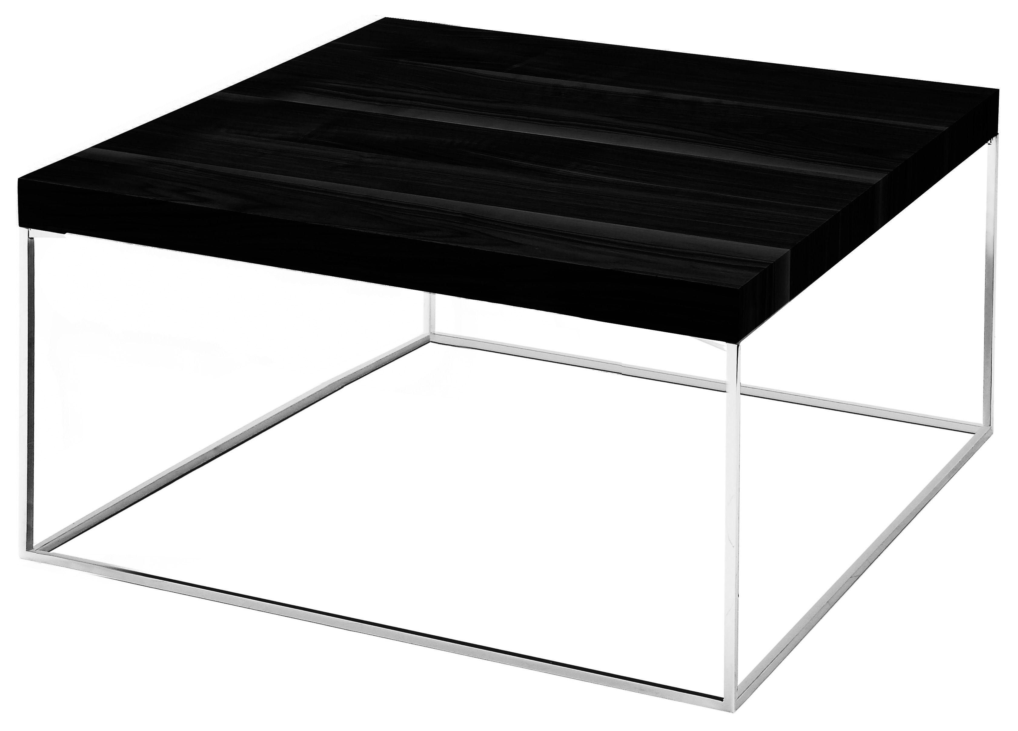 Mobilier - Tables basses - Table basse Oliver wengé - Zanotta - Wengé/Graphite - 80 x 80 cm - Acier verni, Aggloméré plaqué rouvre teinté