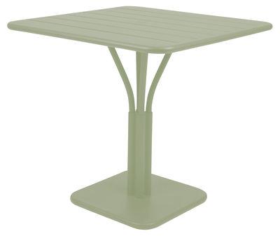 Table carrée Luxembourg / 80 x 80 cm - Pied central - Aluminium - Fermob tilleul en métal