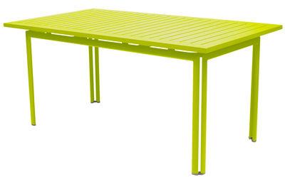 Table Costa / 160 x 80 cm - Fermob verveine en métal