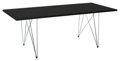 Dossiers - Style industriel - Table rectangulaire XZ3 / 200 x 90 cm - Magis - Noir / Pied noir - Acier, MDF finition polymère