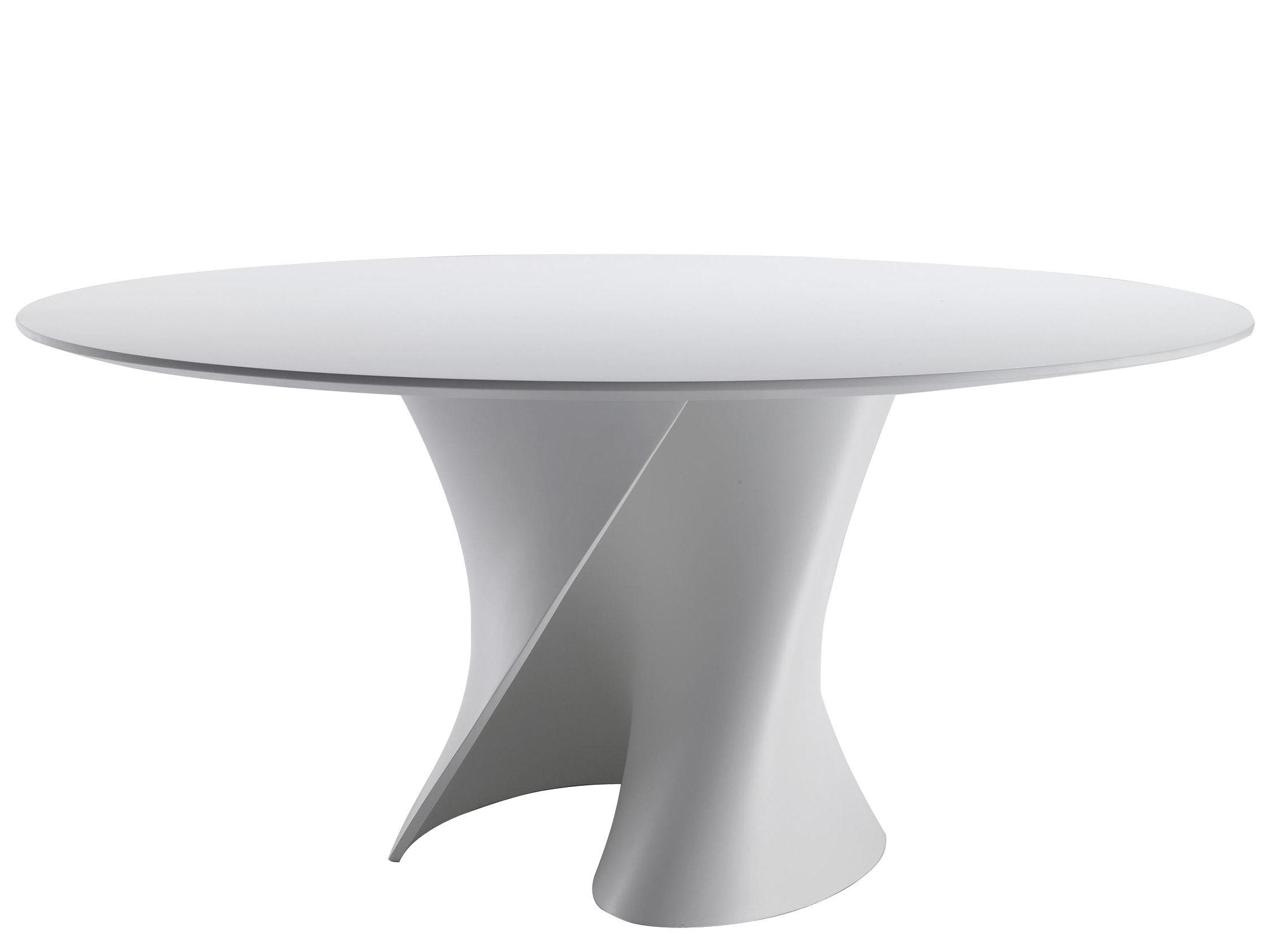 Tendances - À taaable ! - Table ronde S / Ø 140 cm - Plateau Cristalplant - MDF Italia - Blanc - Cristalplant